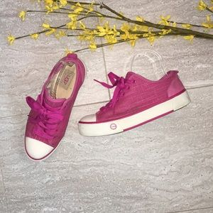 Ugg Pink Canvas Thick bottom sneakers